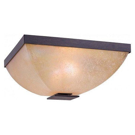 Minka-Lavery Iron Oxide 2 Light Flush Mount Ceiling Fixture From The Lineage Collection