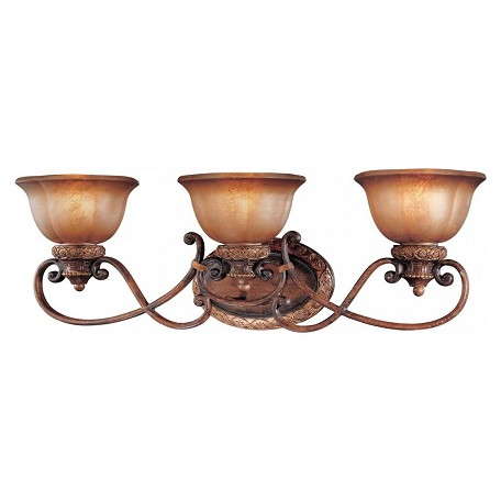 Minka-Lavery Illuminati Bronze 3 Light Bathroom Vanity Light From The Illuminati Collection