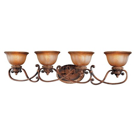 Minka-Lavery Illuminati Bronze 4 Light 42In. Width Bathroom Vanity Light