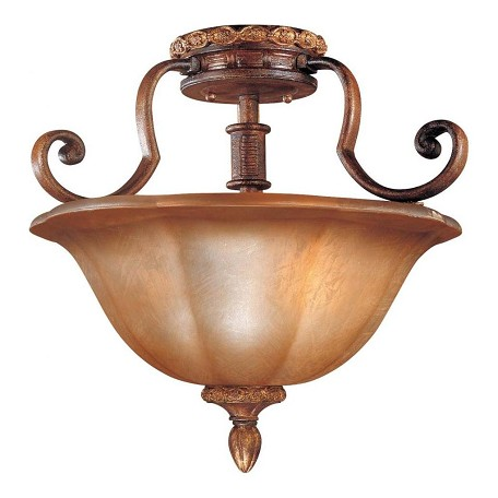 Minka-Lavery 3 Light Illuminati Semi Flush In Bronze Finish