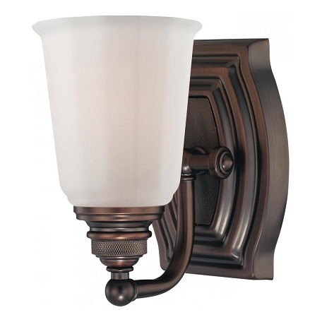 Minka lavery dark brushed bronze 1 light bathroom sconce from the clairemont collection dark for Brushed bronze bathroom lighting