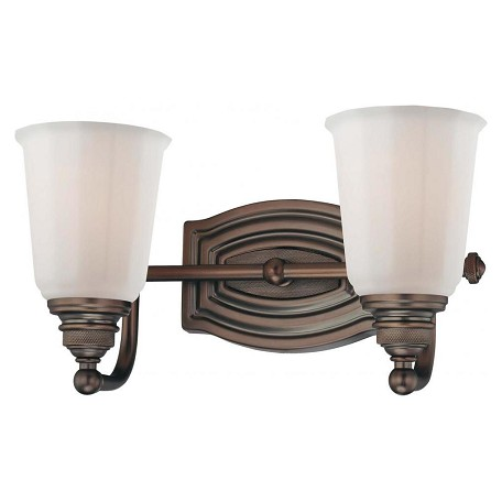 Minka lavery dark brushed bronze 2 light bathroom vanity - Brushed bronze bathroom light fixtures ...