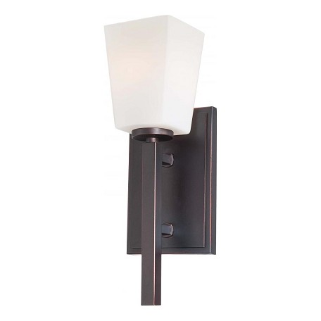 Minka-Lavery Lathan Bronze 1 Light Wall Sconce From The City Square Collection