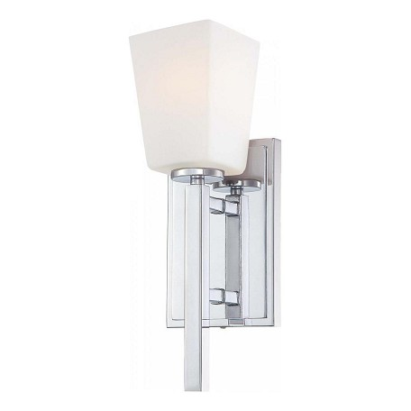 Minka-Lavery Chrome 1 Light Wall Sconce From The City Square Collection
