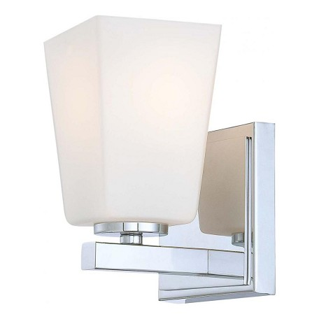 Minka-Lavery Chrome 1 Light Bathroom Sconce From The City Square Collection