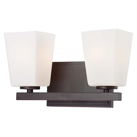 Minka-Lavery Lathan Bronze 2 Light Bathroom Vanity Light From The City Square Collection