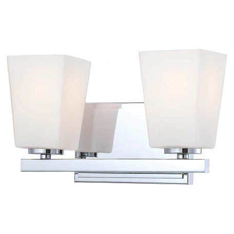 Minka-Lavery Chrome 2 Light Bathroom Vanity Light From The City Square Collection