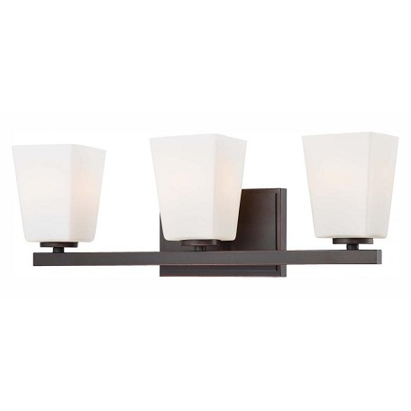 Minka-Lavery Lathan Bronze 3 Light Bathroom Vanity Light From The City Square Collection