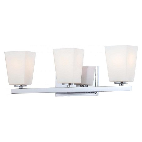 Minka-Lavery Chrome 3 Light Bathroom Vanity Light From The City Square Collection