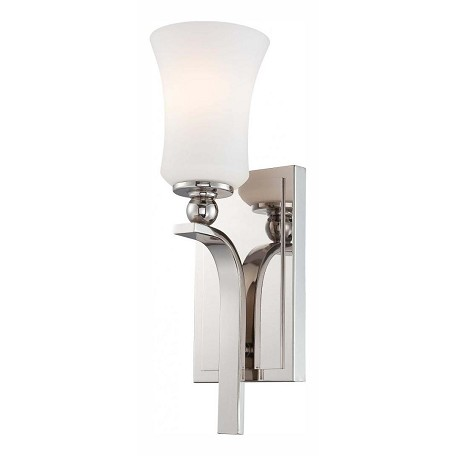 Minka-Lavery Polished Nickel 1 Light Wall Sconce From The Ameswood Collection