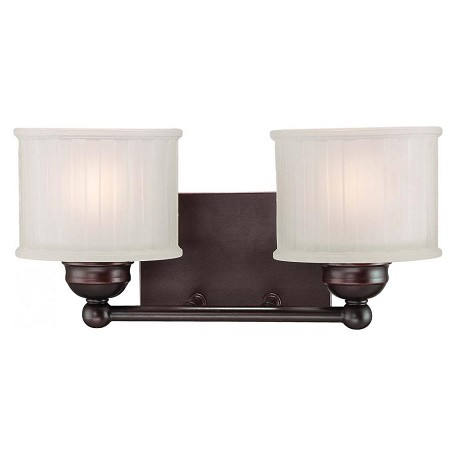 Minka-Lavery Lathan Bronze 2 Light Bathroom Vanity Light From The 1730 Series Collection