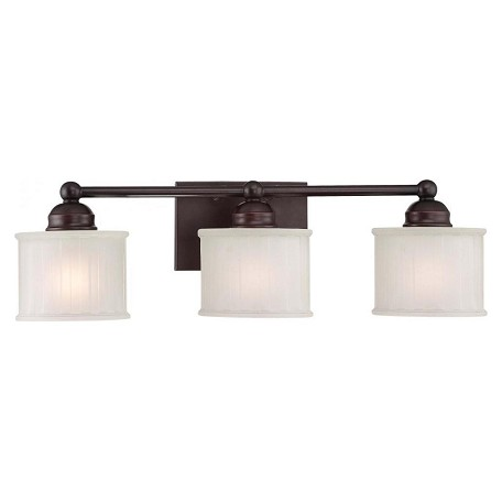 Minka-Lavery Lathan Bronze 3 Light Bathroom Vanity Light From The 1730 Series Collection