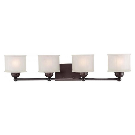 Minka-Lavery Lathan Bronze 4 Light Bathroom Vanity Light From The 1730 Series Collection