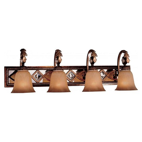 Minka-Lavery Aston Court Bronze 4 Light Bathroom Vanity Light From The Aston Court Collection
