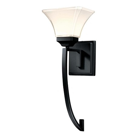 Minka-Lavery Black 1 Light Wallchiere Wall Sconce From The Agilis Collection