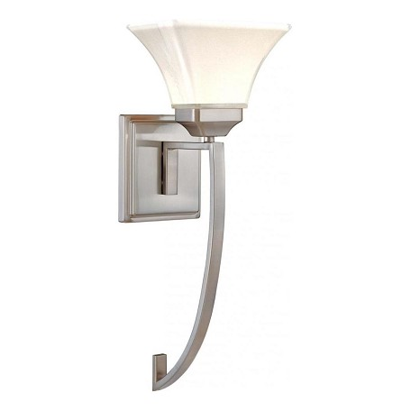 Minka-Lavery Brushed Nickel 1 Light Wallchiere Wall Sconce From The Agilis Collection