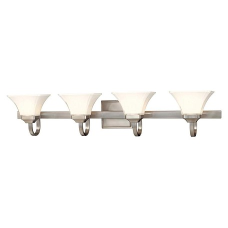 Minka-Lavery Brushed Nickel 4 Light Bathroom Vanity Light From The Agilis Collection
