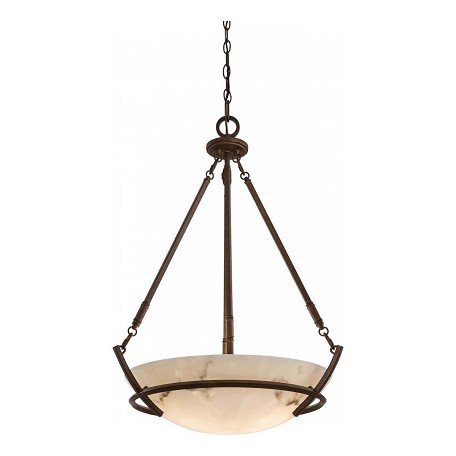 Minka-Lavery Nutmeg 3 Light Indoor Bowl Shaped Pendant From The Calavera Collection