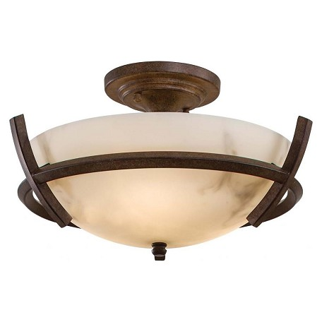Minka-Lavery 3 Light Semi Flush With Nutmeg Finish