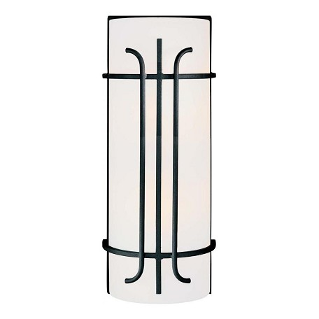 Minka-Lavery Black 2 Light Flush Mount Wall Sconce From The Iconic Collection