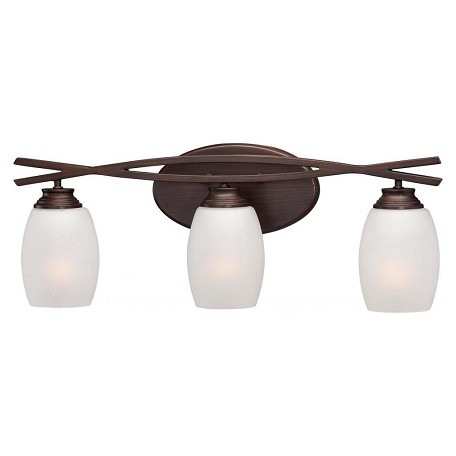 Minka Lavery Dark Brushed Bronze 3 Light Bathroom Vanity Light From The City Club Collection