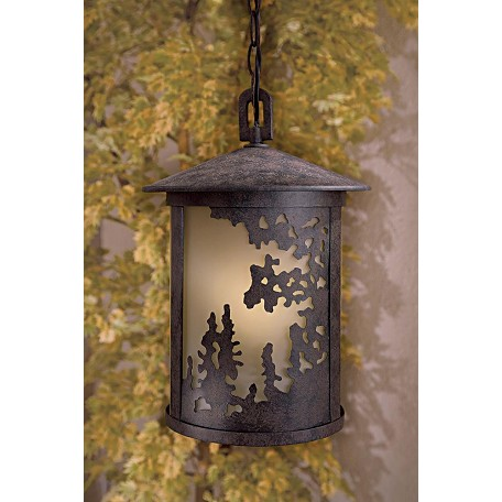 Minka-Lavery One Light Bronze Hanging Lantern