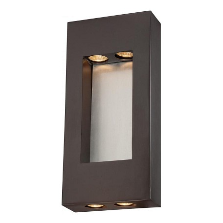 Minka-Lavery 4 Lights Outdoor Wall Sconce With Bronze Finish