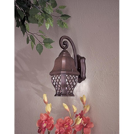 Minka-Lavery 1 Light Outdoor Wall Sconce With Bronze Finish