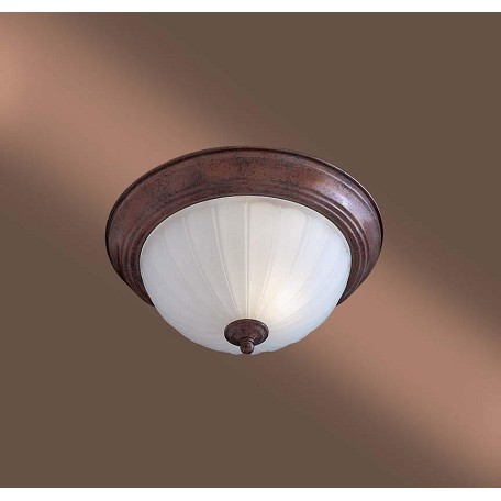 Minka-Lavery One Light Bronze Bowl Flush Mount