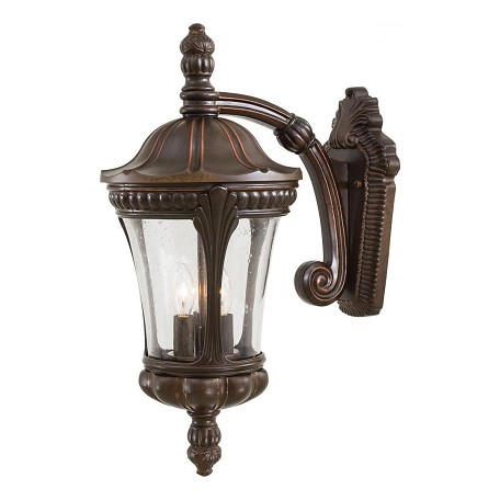 Minka-Lavery 3 Light Outdoor Wall Mount With Bronze Finish