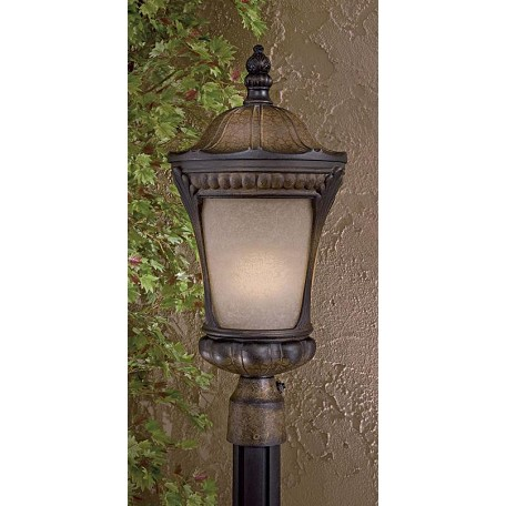 Minka-Lavery 1 Light Post Mount With Prussian Gold Finish
