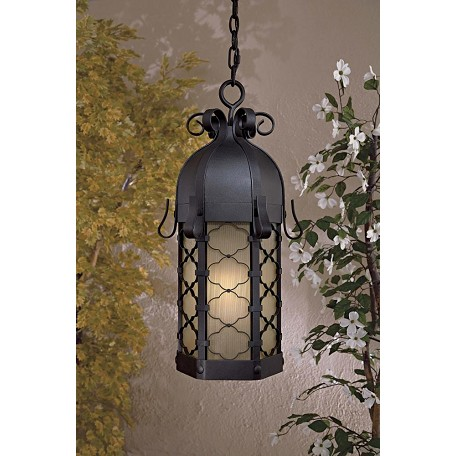Minka-Lavery One Light Black Hanging Lantern