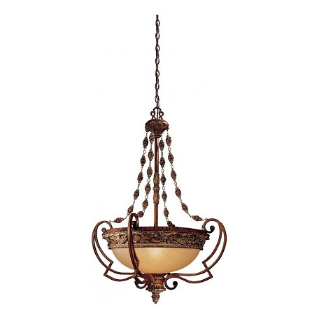 Minka-Lavery Belcaro Walnut 4 Light Indoor Bowl Shaped Pendant From The Belcaro Collection