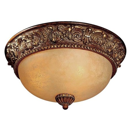 Minka-Lavery Belcaro Walnut 3 Light Flush Mount Ceiling Fixture From The Belcaro Collection