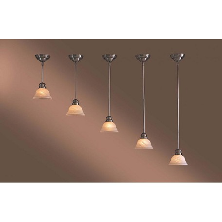 Minka-Lavery Brushed Nickel 1 Light 42In. Height Indoor Mini Pendant
