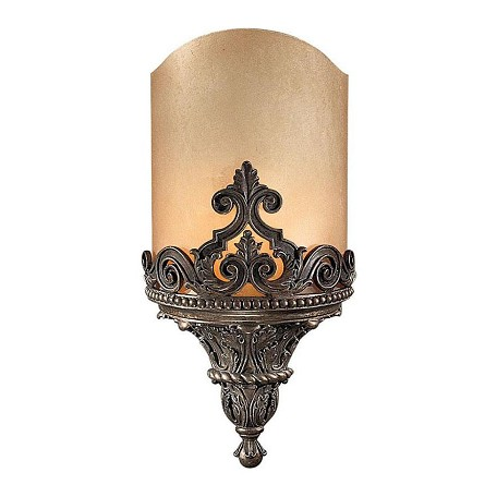 Minka Metropolitan 2 Light Bronze Wall Sconce With Double French Scavo Glass