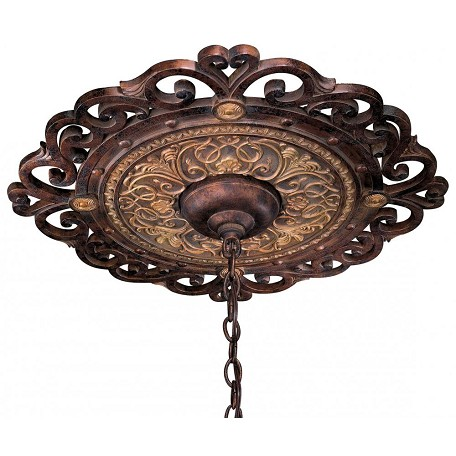 Minka Metropolitan Golden Bronze 24In. Ceiling Medallion From The Zaragoza Collection