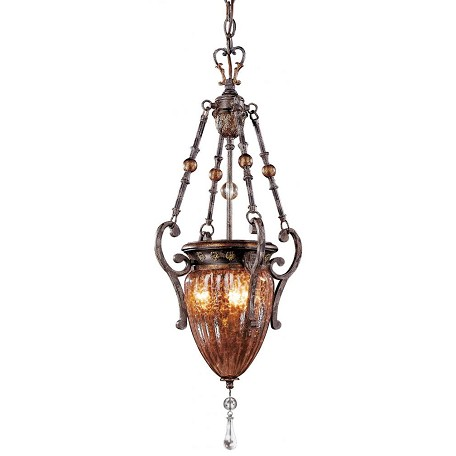 Minka Metropolitan Sanguesa Patina 3 Light Urn Pendant From The Sanguesa Collection