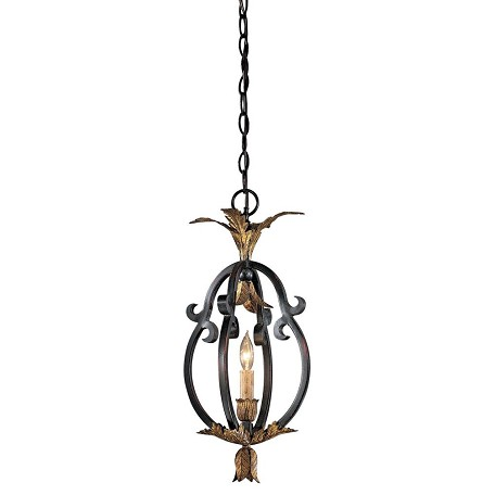Minka Metropolitan French Black 1 Light Lantern Pendant From The Montparnasse Collection