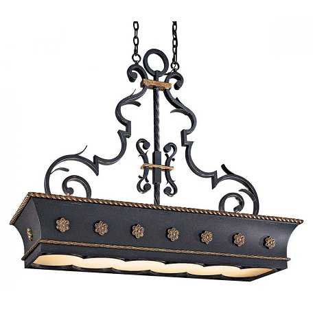 Minka Metropolitan French Black 12 Light 1 Tier Linear Chandelier From The Montparnasse Collection