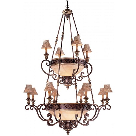 Minka Metropolitan Golden Bronze Salon Scavo Glass And Optional Shade Up Chandelier