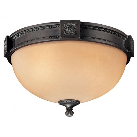 Minka Metropolitan Aged Bronze 2 Light Flush Mount Ceiling Fixture From The Catalonia Collection