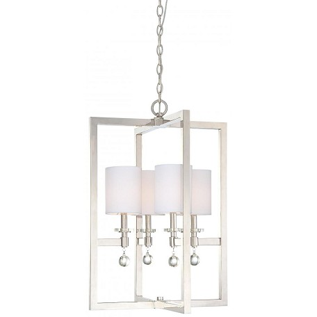 Minka Metropolitan Polished Nickel 4 Light Full Sized Pendant From The Chadbourne Collection
