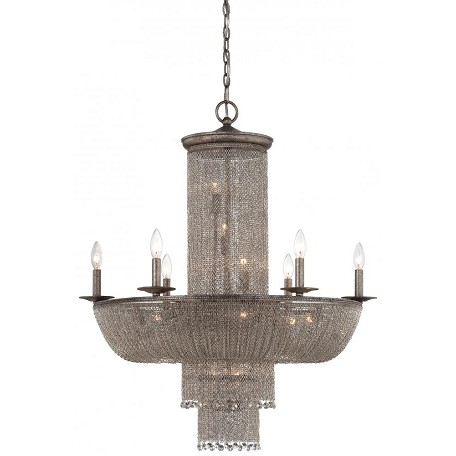Minka Metropolitan Sixteen Light Antique Silver Up Chandelier