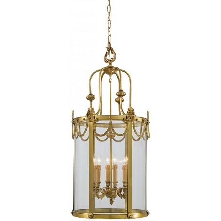 Minka Metropolitan Dore Gold 6 Light 41In. Height Lantern Pendant From The Metropolitan Collection