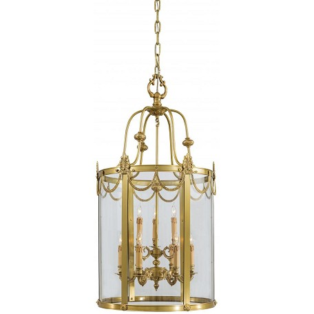 Minka Metropolitan Dore Gold 6 Light Lantern Pendant From The Metropolitan Collection