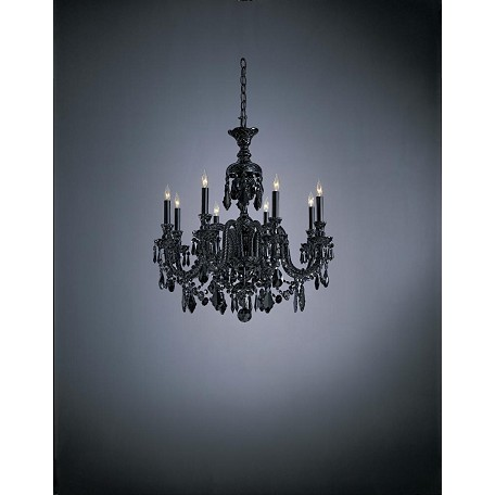 Minka Metropolitan Minka 8 Light Traditional European Chandelier With Clear Crystals