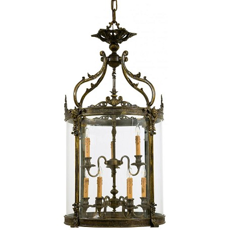 Minka Metropolitan Oxide French Gold Clear Glass Framed Glass Foyer Hall Fixture