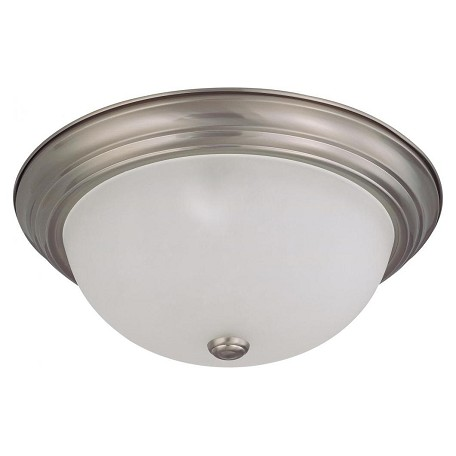 Nuvo 3 Light  15In.  Flush Mount W/ Frosted White Glass