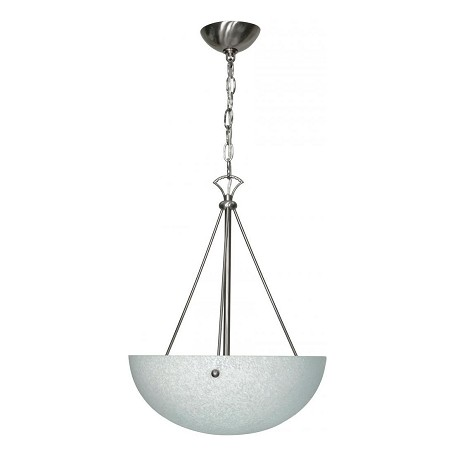 Nuvo South Beach - 3 Light - 15In. - Pendant - W/ Water Spot Glass